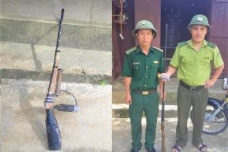 VQG Phong Nha – Kẻ Bàng tuyên truyền, vận động người dân giao nộp vũ khí nhằm giảm thiểu nguy cơ xâm hại đến động vật hoang dã